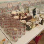 Christmas glassware